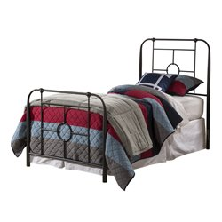 Hillsdale Trenton Twin Metal Bed in Black Sparkle