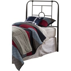 Hillsdale Trenton Twin Metal Headboard in Black Sparkle