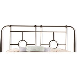 Hillsdale Trenton Full or Queen Metal Headboard in Black Sparkle