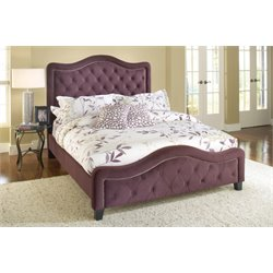 Hillsdale Trieste Upholstered King Bed in Purple