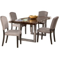Hillsdale Emerson Dining Set in Gray Sheesham