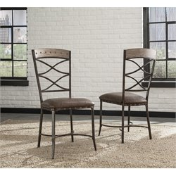 Hillsdale Emmons Dining Chair in Washed Gray (Set of 2)