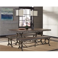 Hillsdale Paddock 3 Piece Dining Set in Brown Gray