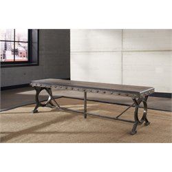 Hillsdale Paddock Bench in Brown-Gray