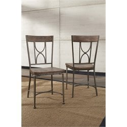 Hillsdale Paddock Dining Chair in Brown Gray (Set of 2)