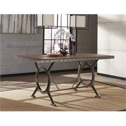 Hillsdale Paddock Counter Height Dining Table in Brown-Gray