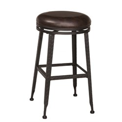 Hillsdale Hale Backless Swivel Stool in Black