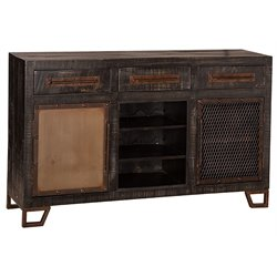 Hillsdale Bridgewater 5 Drawer Sofa Table with Wine Rack