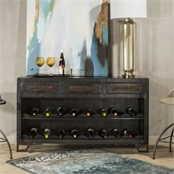 Hillsdale Bridgewater 3 Drawer Sofa Table with Wine Rack