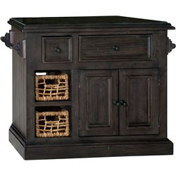 Hillsdale Tuscan Retreat Small Granite Top Kitchen Island in Gray