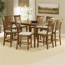 Hillsdale Bayberry 9 Piece Counter Height Gathering Dining Table Set