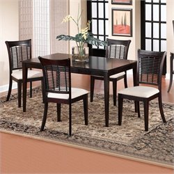 Hillsdale Bayberry 5 Piece Rectangular Dining Table Set in Dark Cherry