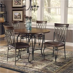 Hillsdale Montello 5 Piece Round Dining Table Set