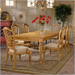 Hillsdale Wilshire 7 Piece Rectangular Dining Table Set in Antique Pine