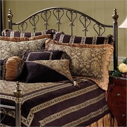 Hillsdale Huntley Metal Headboard in Bronze - Full/Queen