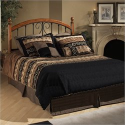Hillsdale Burton Way Wood and Metal Poster Bed in Cherry and Black - King