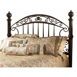 Hillsdale Chesapeake Metal Low Profile Queen Bed in Antique Black Gold Finish