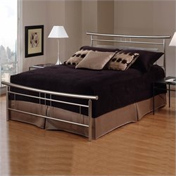 Hillsdale Soho Metal Bed in Brushed Nickel Finish - Full