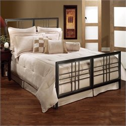 Hillsdale Tiburon Metal Bed in Magnesium Pewter Finish - Twin
