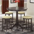 Hillsdale Tiburon 5 Piece Pub Table Set in Espresso
