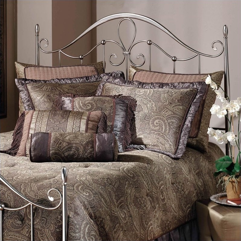 Doheny Metal Headboard in Antique Pewter