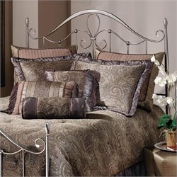 Hillsdale Doheny Metal Headboard in Antique Pewter - Full/Queen