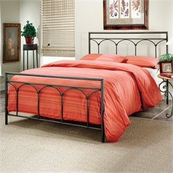 Hillsdale McKenzie Metal Panel Bed Brown Steel Finish - Queen
