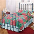 Hillsdale Molly Twin Metal Panel Bed in Blue Finish