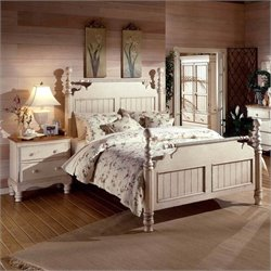 Hillsdale Wilshire Antique White Post Bedroom Set
