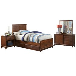 Hillsdale Bailey Twin Panel Bedroom Set with Trundle