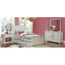 Hillsdale Bailey Twin Panel Bedroom Set with Trundle in White