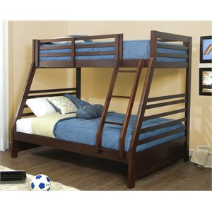 Hillsdale Bailey Twin Over Full Bunk Bed in Mission Oak