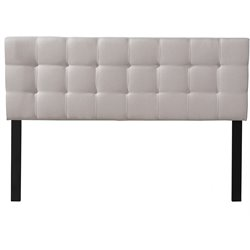 Hillsdale Delaney Upholstered Panel Headboard in Fog