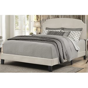 Hillsdale Desi Upholstered Full Panel Bed in Fog