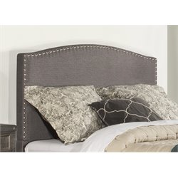 Hillsdale Kerstein Upholstered Panel Headboard in Orly Gray with Frame