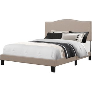 Hillsdale Kiley Upholstered Panel Bed in Fog