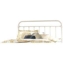 Hillsdale Kirkland Metal Spindle Panel Headboard in White