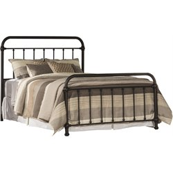 Hillsdale Kirkland Metal Spindle Panel Bed in Dark Bronze