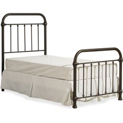 Hillsdale Kirkland Meta Spindle Panel Bed in Dark Bronze w/o Frame