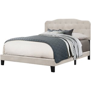 Hillsdale Nicole Upholstered Panel Bed in Fog