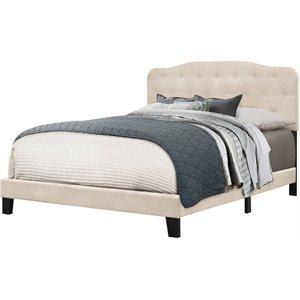 Hillsdale Nicole Upholstered Panel Bed in Linen