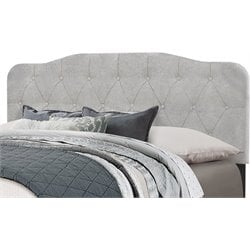 Hillsdale Nicole Upholstered Panel Headboard w/o Frame in Gray