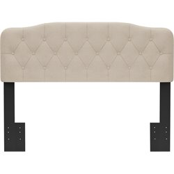 Hillsdale Nicole Upholstered Panel Headboard w/o Frame  in Linen