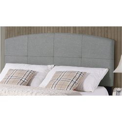 Hillsdale Southport Upholstered Panel Headboard w/o Frame in Smoke