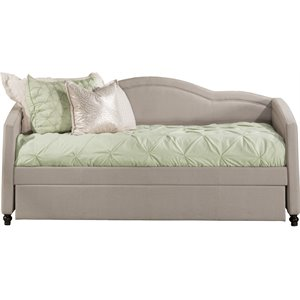 Hillsdale Jasmine Upholstered Daybed in Dove Gray