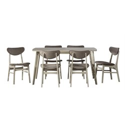 Hillsdale Bronx Dining Set in Light Weathered Gray