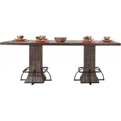 Hillsdale Jennings Counter Height Dining Table in Distressed Walnut