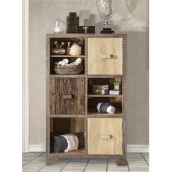Hillsdale Bolero Storage Shelf Cabinet in Sand Brushed