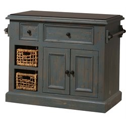 Hillsdale Tuscan Retreat Kitchen Island in Nordic Blue