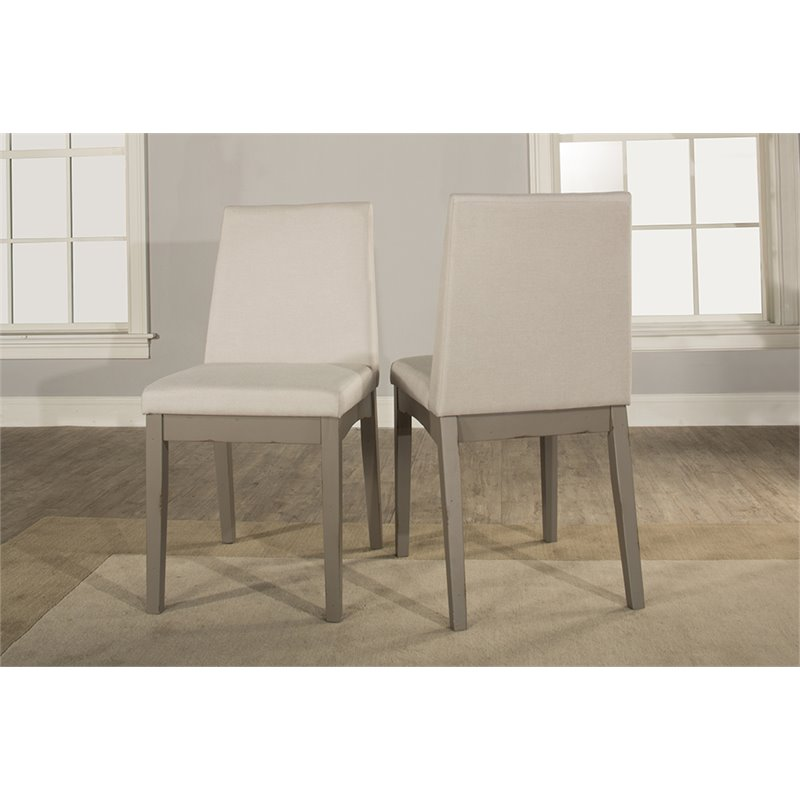 Hillsdale Clarion Upholstered Dining Side Chair in Fog
